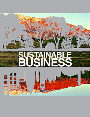 Cover for Sustainable Business Wikibook.