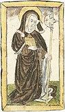 Älteste Darstellung Wiboradas, im Codex Sangallensis 586, um 1430/1436