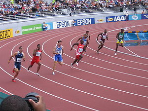 A 200 metres run at the 2005 Athletics World C...