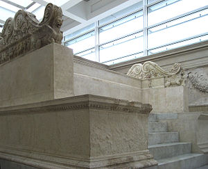English: Ara Pacis in Rome/Italy - remains of ...