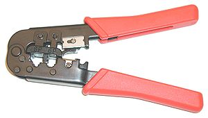 Crimptång för modulär kontakt RJ11 och RJ45 Cr...