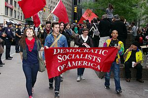 English: Members of the Democratic Socialists ...