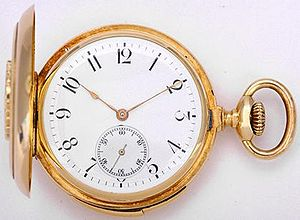 English: Gold minute-repeater pocket watch by ...