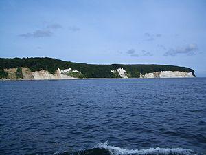 English: Chalk cliffs of Königsstuhl Français ...