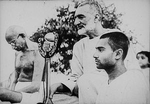 Cropped version of File:Gandhi and Abdul Ghaff...