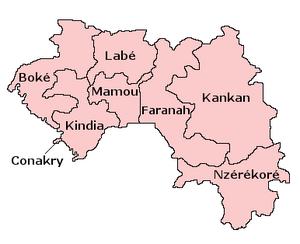 Regions of Guinea