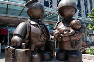 """Immigrant Family"" (bronze, 2007) by..."