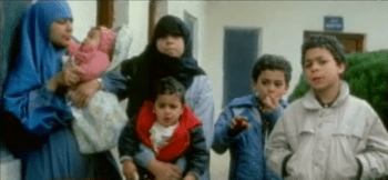 Abdullah, far right, as a child with his family.