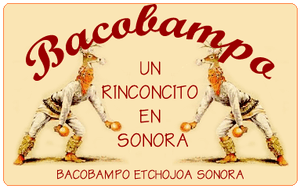 Logo featuring images of Cáhita dancers