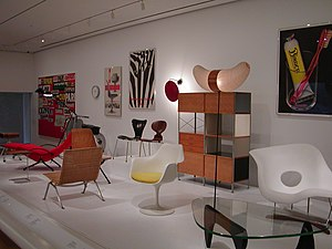 English: Chairs on display at MOMA in New York...
