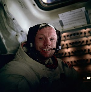 Neil Armstrong photographed by Buzz Aldrin aft...