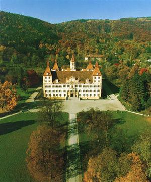 Deutsch: Schloss Eggenberg, Luftaufnahme von Osten
