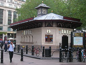 English: Ticket Booth, Leicester Square W1