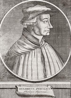 English: Huldrych Zwingli Deutsch: Ulrich Zwingli