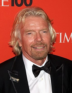 English: Industrialist Richard Branson at the ...