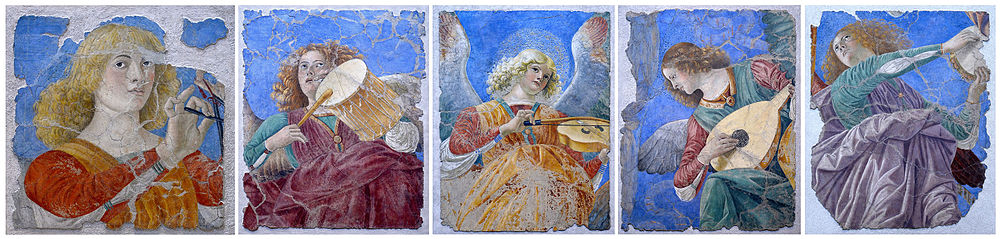 Musical angels, from the Pinacoteca Vaticano