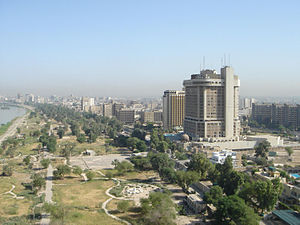 English: The red zone in Baghdad