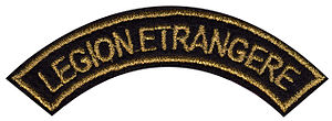 insigne de manche Légion étrangère en tissus c...