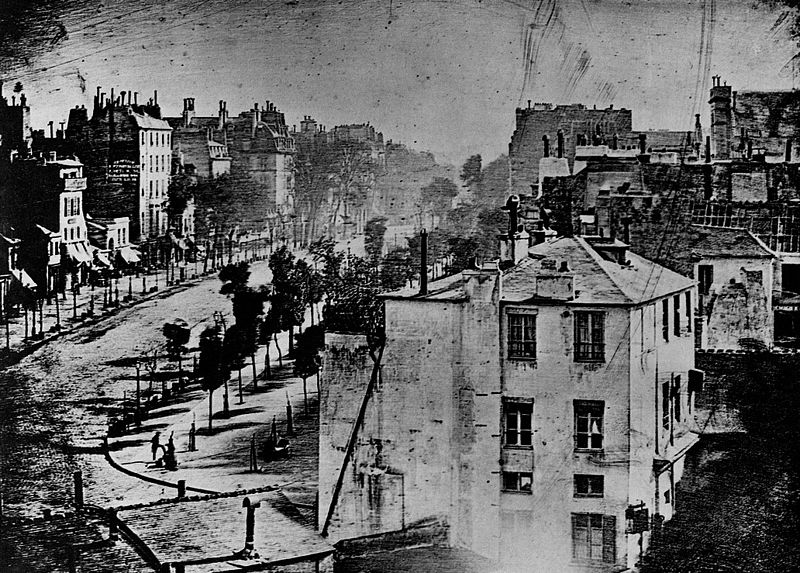 Boulevard du Temple, photographed by Louis Daguerre in 1838 or 1839.