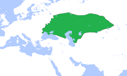 キプチャク・ハン国の位置