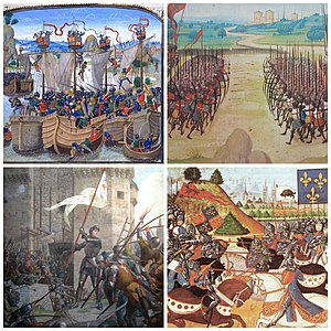 hundred years war collage jpg