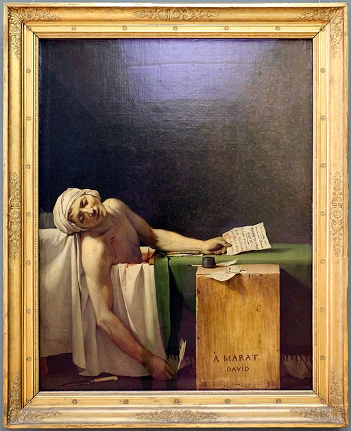 """The Death of Marat"" by Jacques-Louis David"