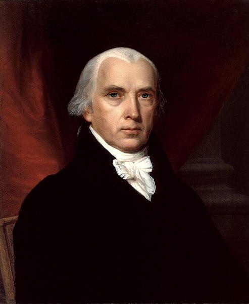 James Madison White House portrait, John Vanderlyn, 1816