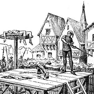 Polski: Łamanie kołem na ilustracji z Petit La...