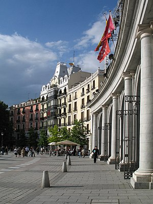 Madrid (Spain): Plaza de Oriente. At the right...