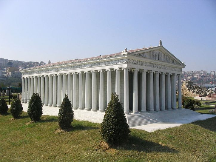 Marble Designs Model of the Temple of Artemis at Miniaturk Park Istanbul Turkey