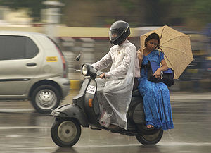Original caption: Romancing the rain in bangalore.