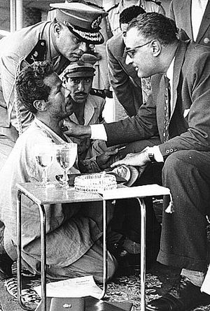 Gamal Abdel Nasser confronts a homeless Egypti...