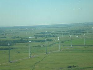 Windfarm in the city of Osório, Rio Grande do Sul.