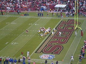 The Green Bay Packers at the San Francisco 49e...
