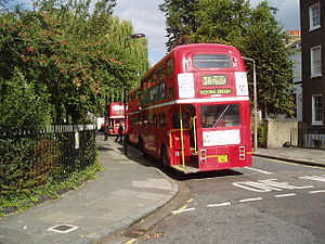 Routemaster buses at Clapton Pond terminus, Lo...