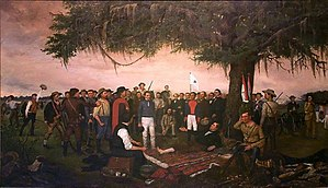 "English: ""Surrender of Santa Anna"" by William ..."