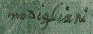 Signature of Amedeo Modigliani