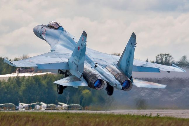 An Su-35S during take-off