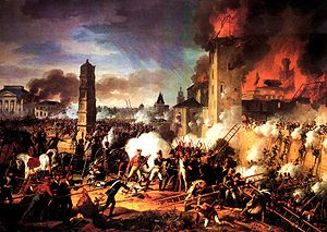 The storming of the citadel of Ratisbon in 180...