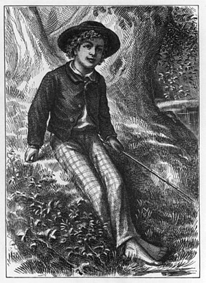 Frontispiece from The Adventures of Tom Sawyer...