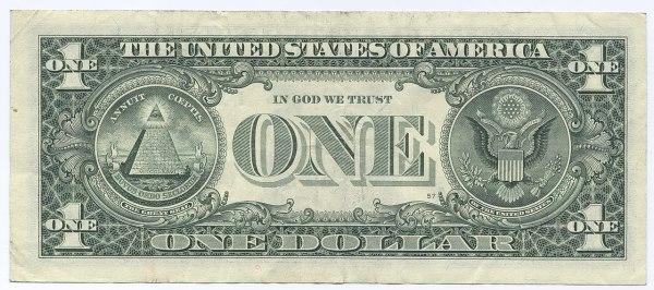 File:United States one dollar bill, reverse.jpg ...