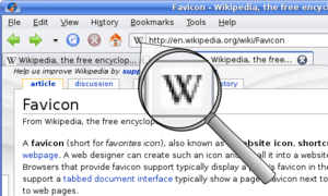 A screenshot of English Wikipedia in Firefox o...