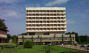Senate building of the Ahmadu Bello University...