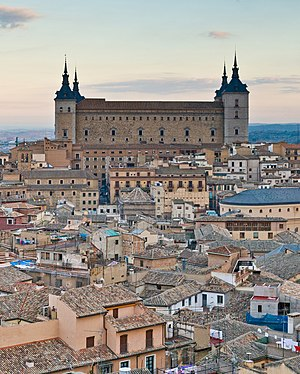 English: The Alcázar of Toledo, Spain. This is...