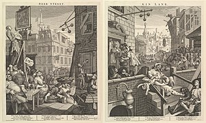 Beer Street and Gin Lane (1751)