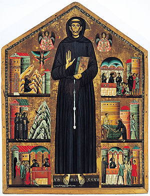 Saint Francis of Assisi and scenes of his life...
