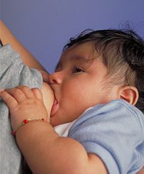 Breastfeeding an infant