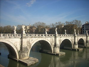English: Bridge of Angels near Castel Sant' Angelo