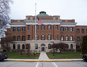 The Calumet County courthouse in Chilton, Wisc...