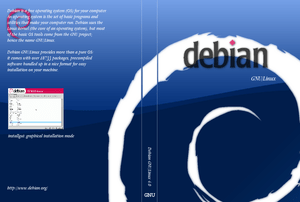 CD cover for Debian GNU/Linux version 4, code ...